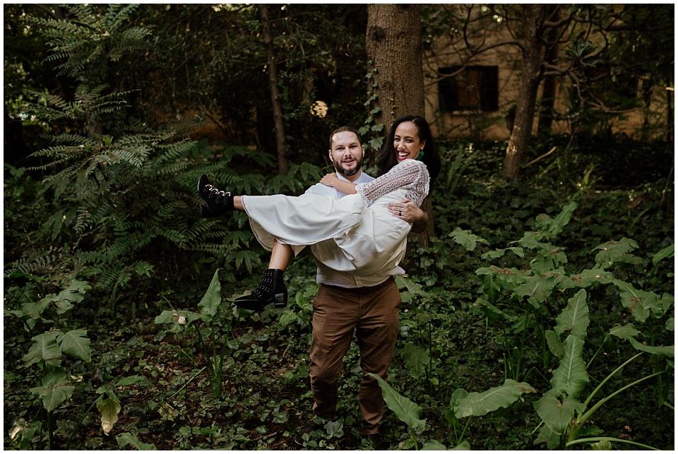 Kim & Shaun boho garden elopement